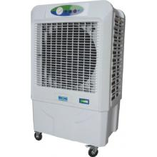 Portable evaporative air cooler for household use