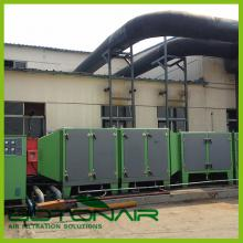 Air filtration system for fabric stenter exhaust gas(ESP)