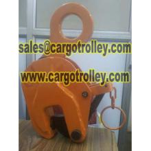 Vertical lifting clamps price list